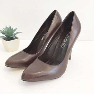 ALDO Brown leather pumps size 36